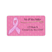 Pink Breast Cancer Awareness Return Mailing Label