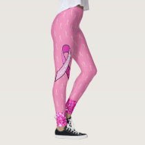 Pink Breast Cancer Awareness Ribbon Leggings