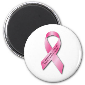 Pink Breast Cancer Awareness Ribbon Magnet