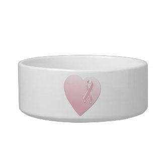 Pink Breast Cancer Heart Bowl