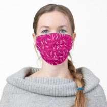PINK BREAST CANCER RIBBONS CLOTH FACE MASK