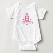 Pink Breast Cancer Support Baby Bodysuit