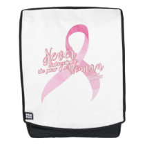 Pink Breast Cancer Support Backpack