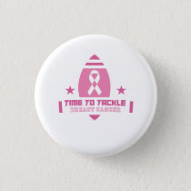 Pink Breast Cancer Support Button