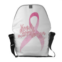 Pink Breast Cancer Support Courier Bag