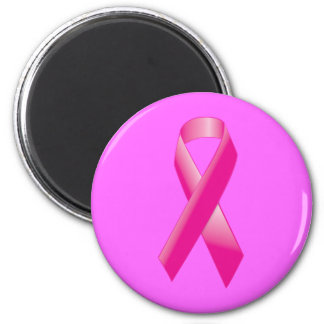 PINK BREAST CANCER SUPPORT RIBBON CAUSES WOMEN MAGNET