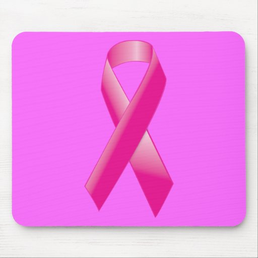 PINK BREAST CANCER SUPPORT RIBBON CAUSES WOMEN MOUSE PAD