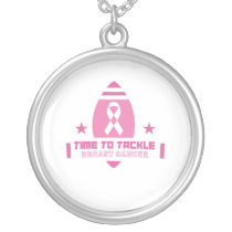 Pink Breast Cancer Support Silver Plated Necklace