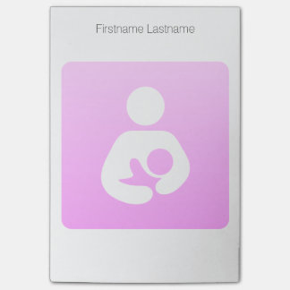 Pink Breastfeeding Icon Post-it Notes