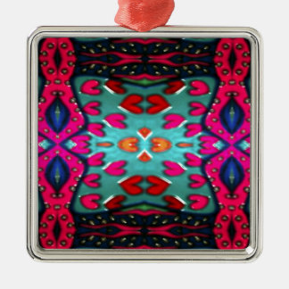 """""""Pink Bred Meli """""""" Designs 2013 """""""" Gifts """"011 Metal Ornament"""