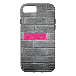 Pink Brick In A Black & White Wall iPhone 8/7 Case