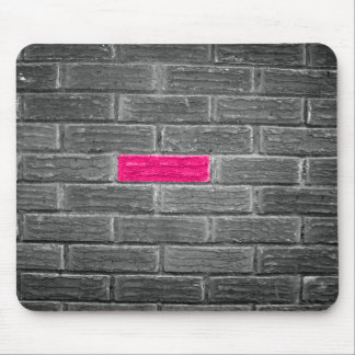 Pink Brick In A Black & White Wall Mouse Pad