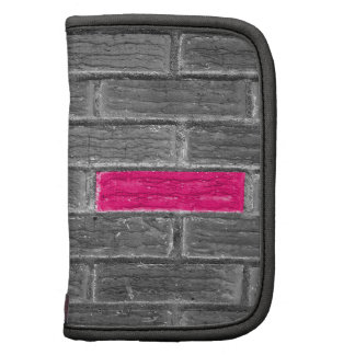 Pink Brick In A Black & White Wall Planners
