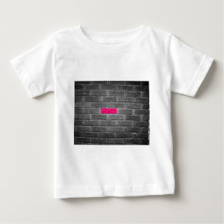 Pink Brick In A Black & White Wall T-shirt