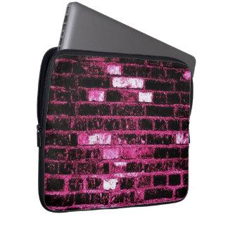 Pink Brick Neoprene Laptop Sleeve