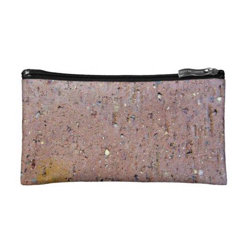 Pink Brick Texture Cosmetic Bag