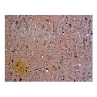 Pink Brick Texture Postcard