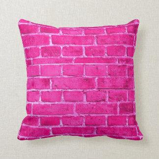 Pink Brick Throw Pillow