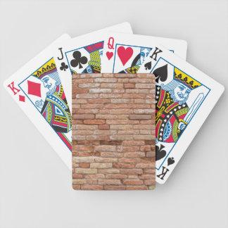 Pink brick wall bicycle playing cards