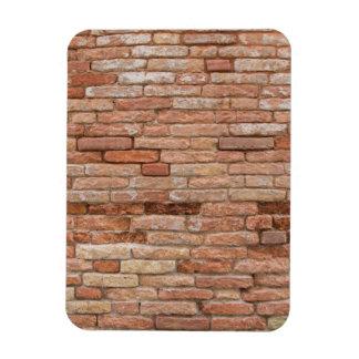 Pink brick wall rectangular magnets