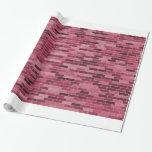 Pink bricks gift wrap paper