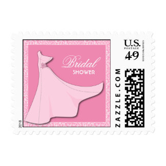 Pink Bridal Gown - Bridal Shower pos-meets Postage