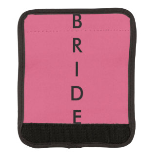 Pink Bridal Luggage Handle Wrap