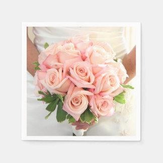 Pink Bridal Roses Napkins