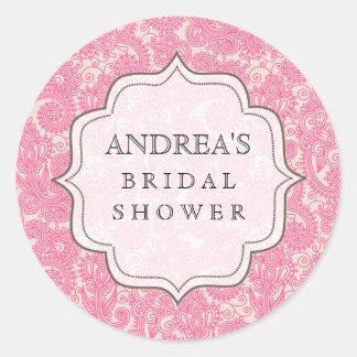 Pink Bridal Shower Dessert Table Tag Label