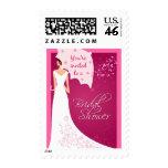 Pink Bridal Shower Invitation Stamp