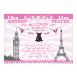 "Pink Bridal Shower Invitations 5"" X 7"" Invitation Card"