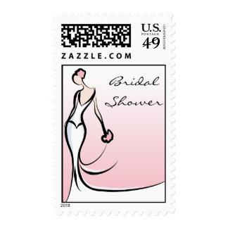 Pink Bridal Shower Postage Stamps