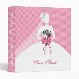 Pink Bridal shower Recipe Folder