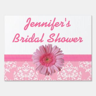 Pink Bridal Shower Yard Sign