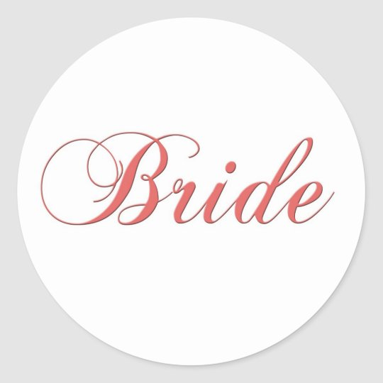 Pink Bridal stickers