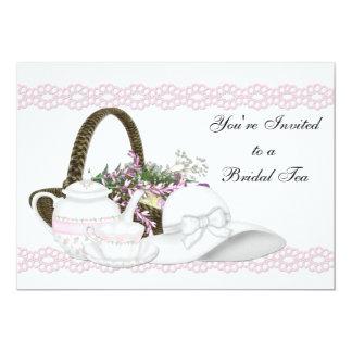 Pink Bridal Tea 5x7 Paper Invitation Card