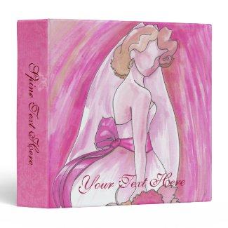 Pink Bride Binder- pink wedding ideas site
