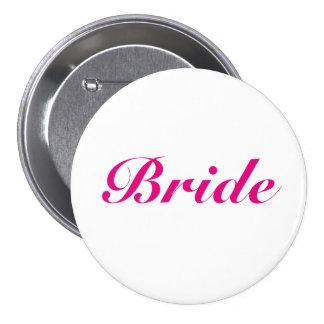 Pink Bride Button