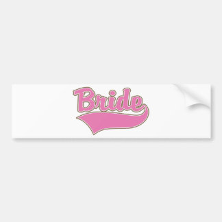 Pink Bride Design with Swash Tail Bumper Sticker