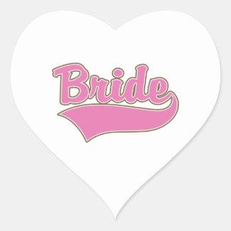 Pink Bride Design with Swash Tail Heart Sticker