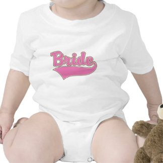 Pink Bride Design with Swash Tail Baby Bodysuit