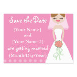 Pink Bride Save the Date Cards Business Card