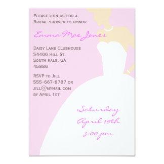 Pink Bride Silhouette Bridal Shower Invitation