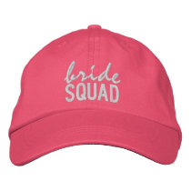 Pink Bride Squad Embroidered Baseball Cap
