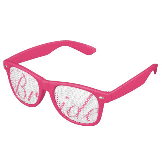 Pink BRIDE Swag Party Glasses Wayfarer Sunglasses