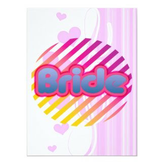 pink bride to be bachelorette wedding bridal party 6.5x8.75 paper invitation card