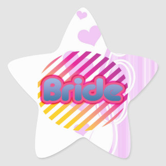 pink bride to be bachelorette wedding bridal party star sticker