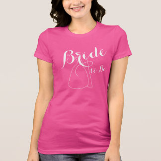 Pink Bride To Be Bridal Shower Gifts Womens Shirts