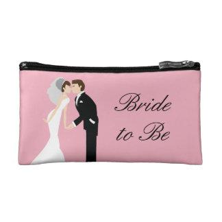 Pink Bride Wedding Cosmetic Bag