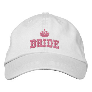 Pink bride with crown baseball cap